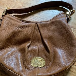 Burberry hobo purse Malika tan.